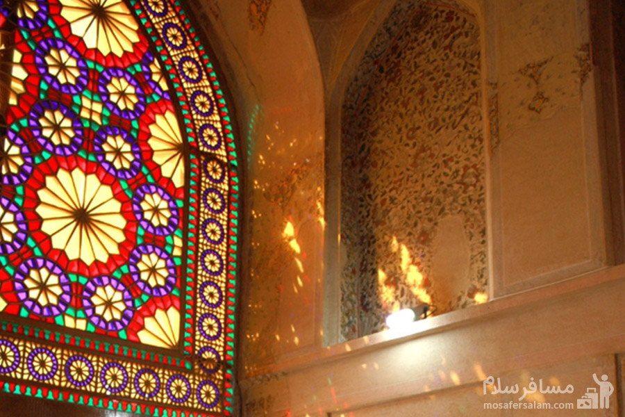 رقص نور از پنجره ارگ کریم خان زند