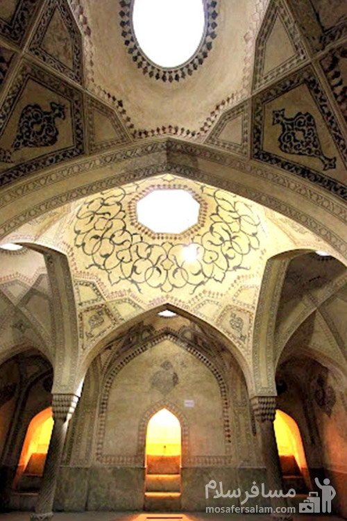 طاق گچی و نقاشی شده بنای ارگ کریم خان زند