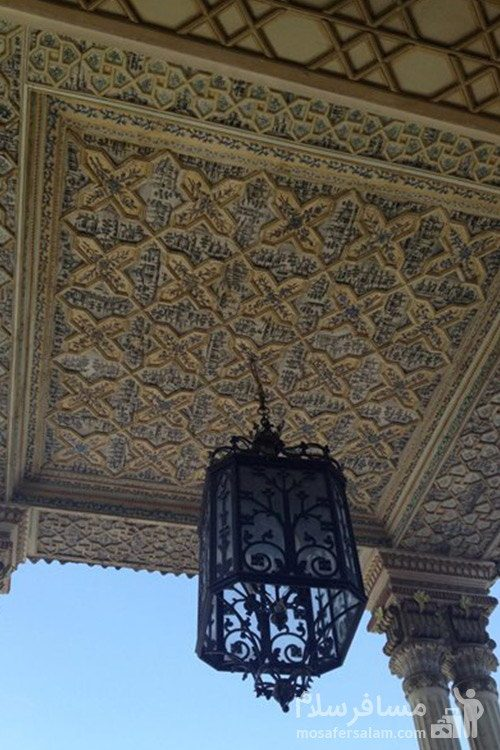 سقف چوبی باغ عفیف آباد شیراز
