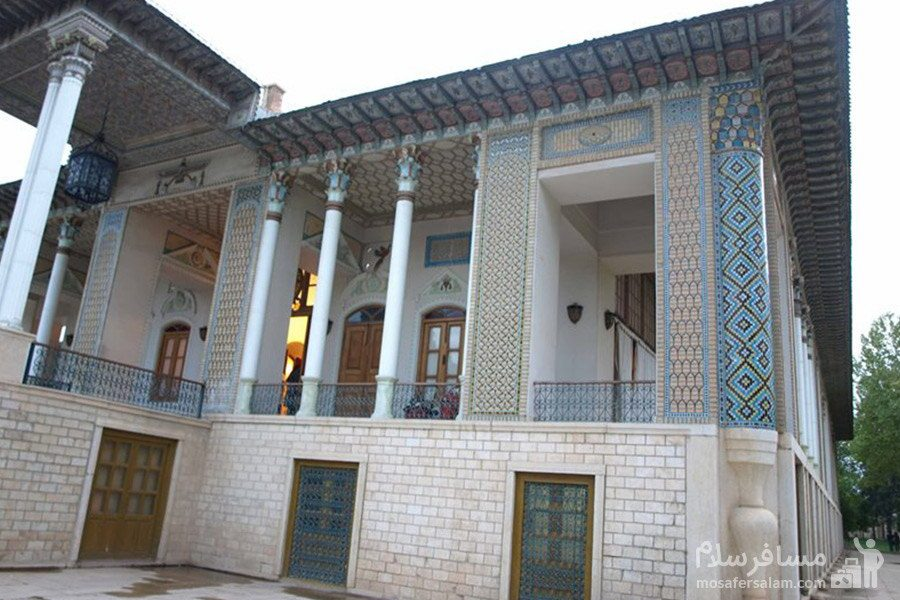 معماری باغ عفیف آباد شیراز