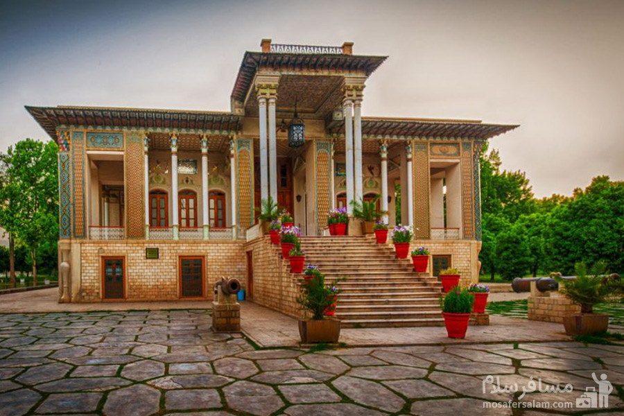 نمای قدیمی باغ عفیف آباد شیراز