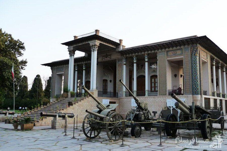 توپ ها در باغ عفیف آباد شیراز