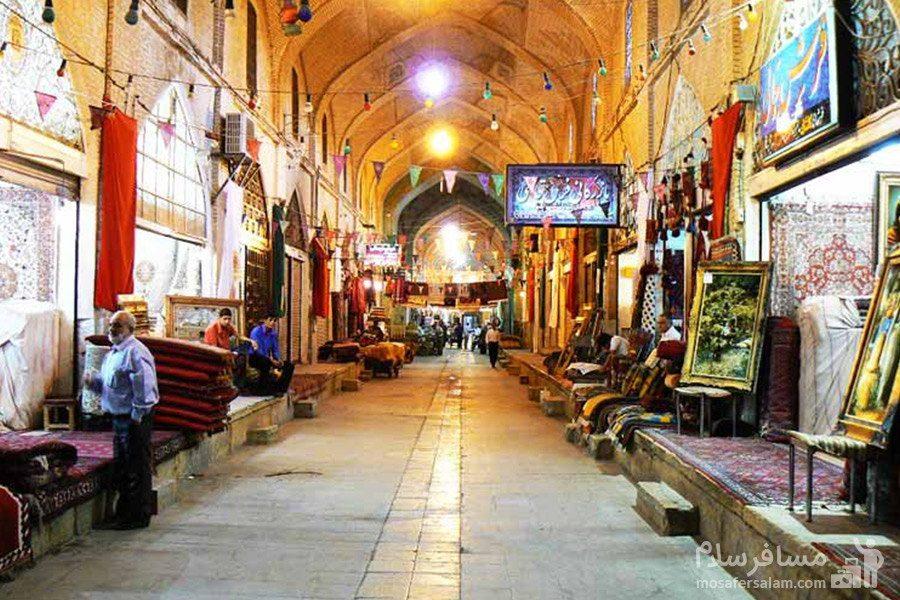 راسته فرش فروش ها در شیراز در بازار وکیل