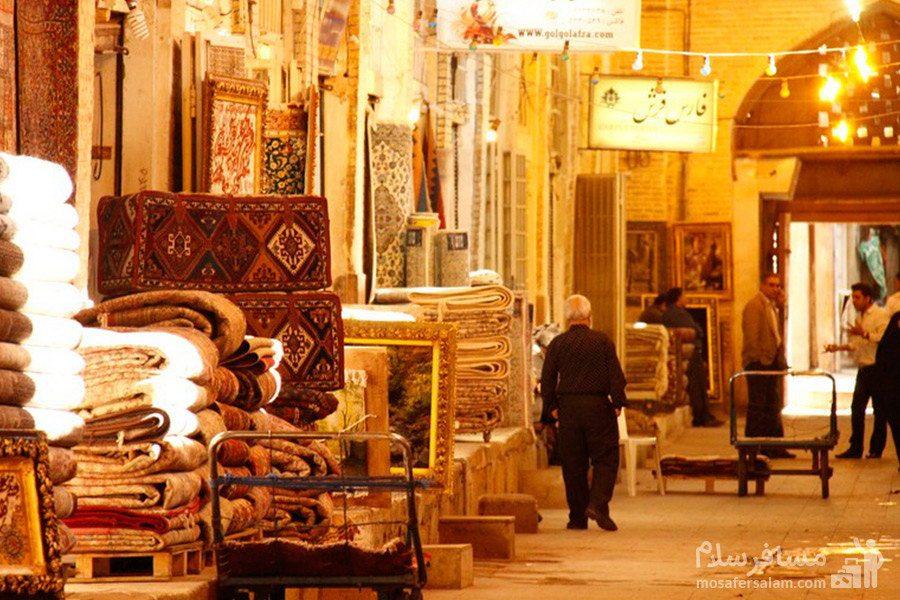 راسته فرش فروشها در بازار وکیل شیراز