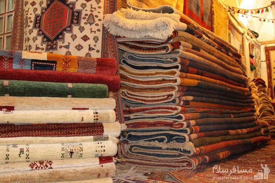 فرش دستباف در بازار وکیل شیراز