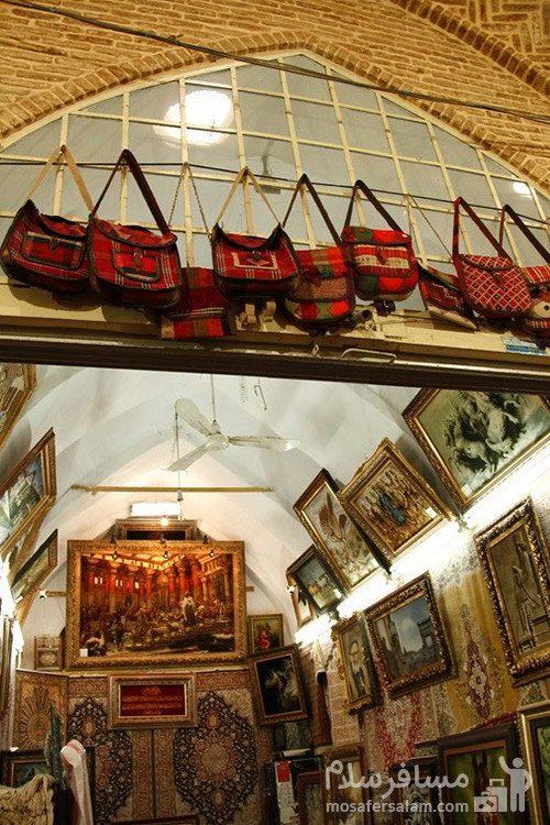 تابلو فرش دستباف در بازار وکیل شیراز