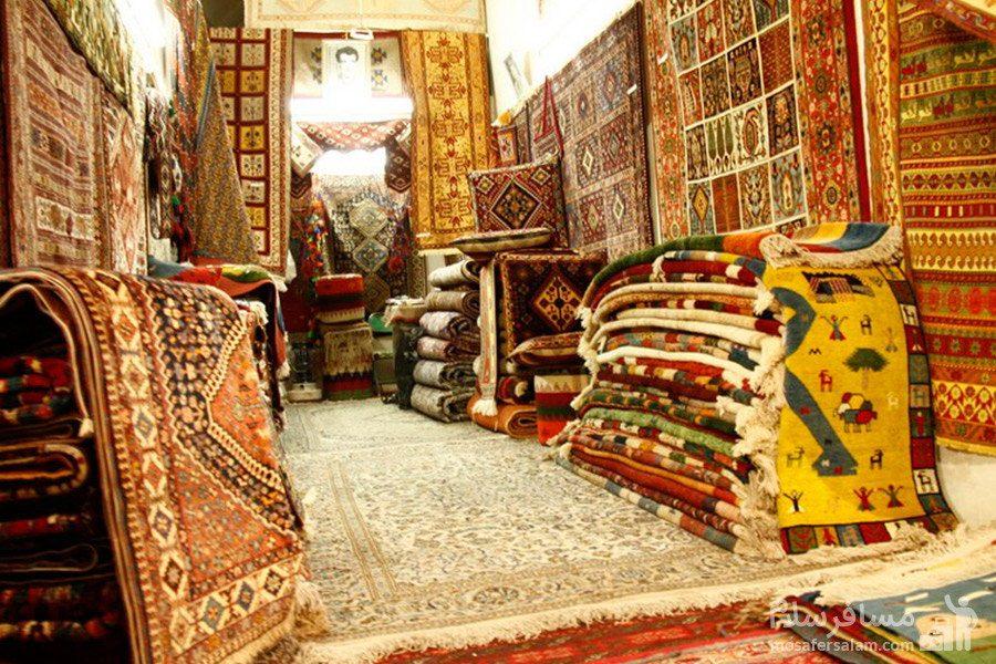 فروشگاه فرش دستباف در بازار وکیل شیراز