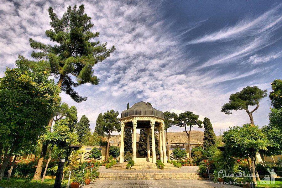 عکس هوایی از حافظیه