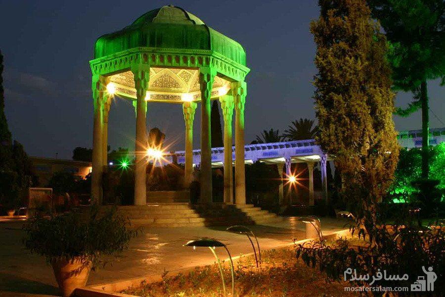 حافظیه ی شیراز در شب