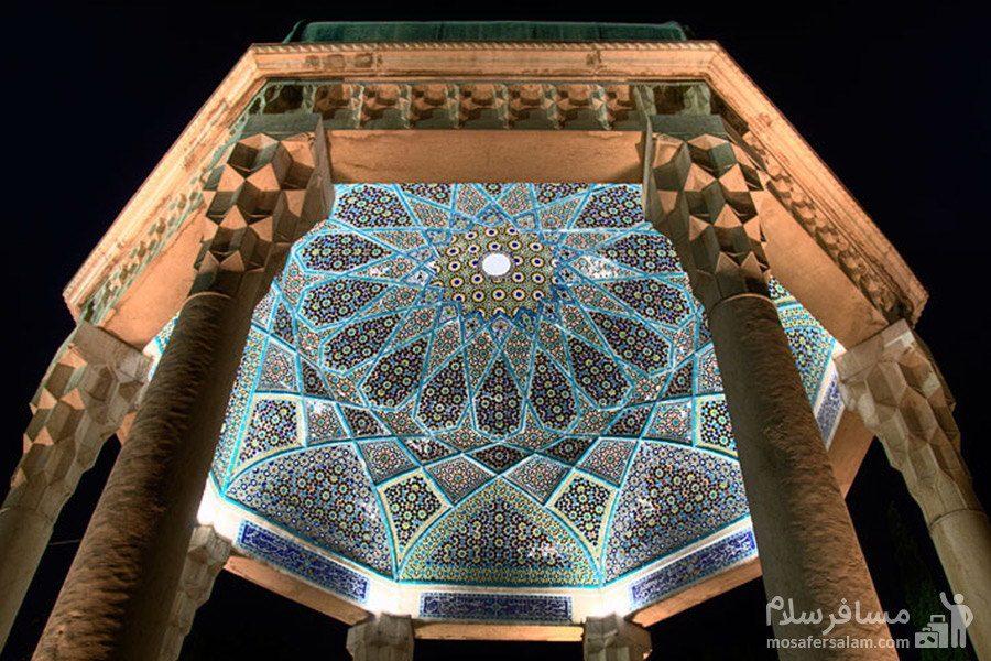 نمای بنای ایجاد شده بر مقبره ی حافظ
