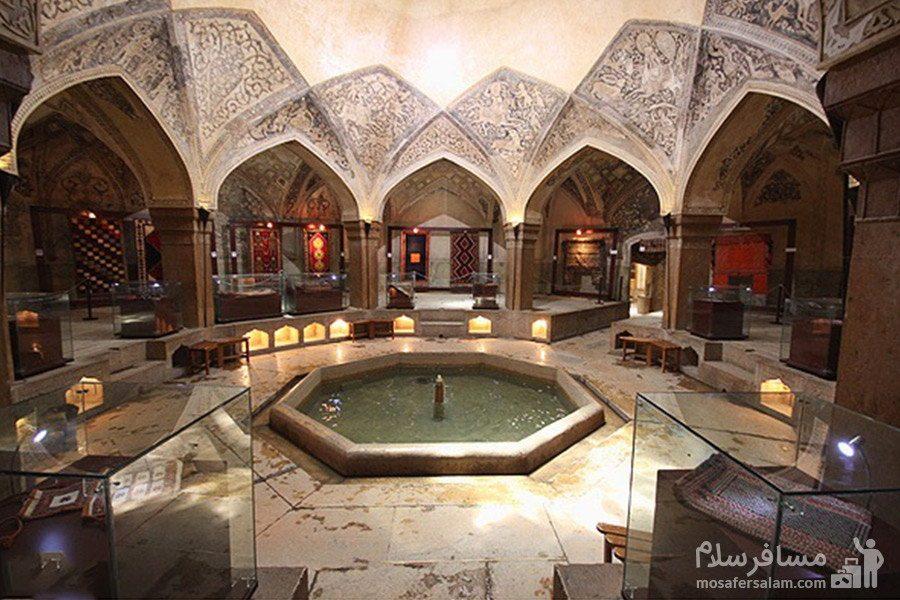 نمای داخلی حمام وکیل شیراز