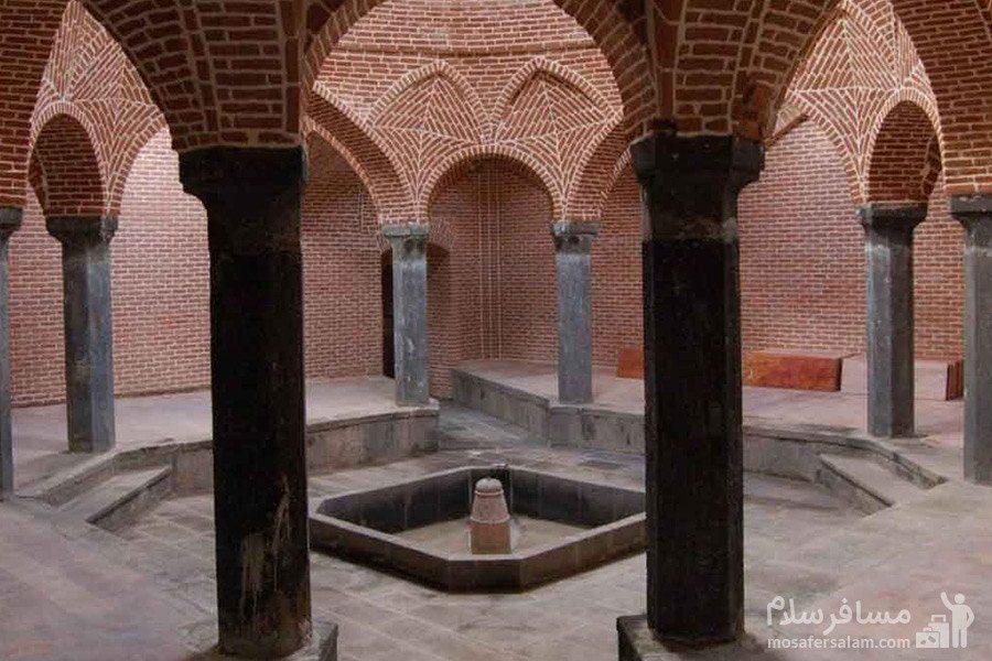 یکی از قسمت های حمام وکیل شیراز