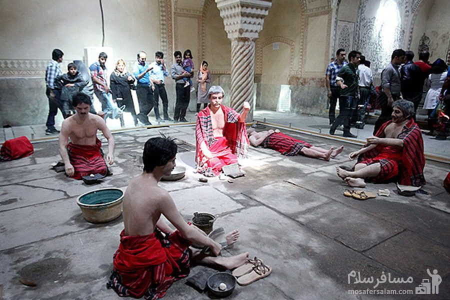کیسه کشی حمام وکیل شیراز