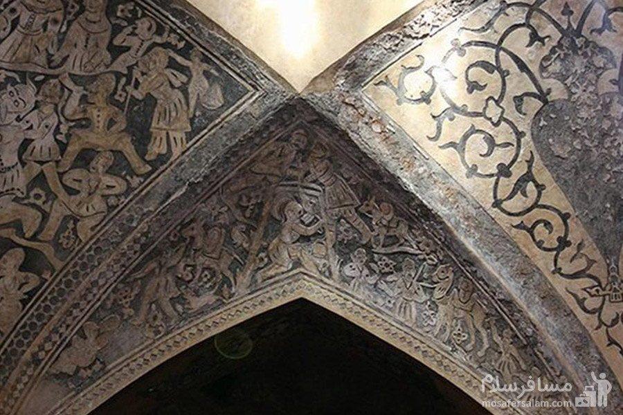 نقاشی سقف حمام وکیل شیراز