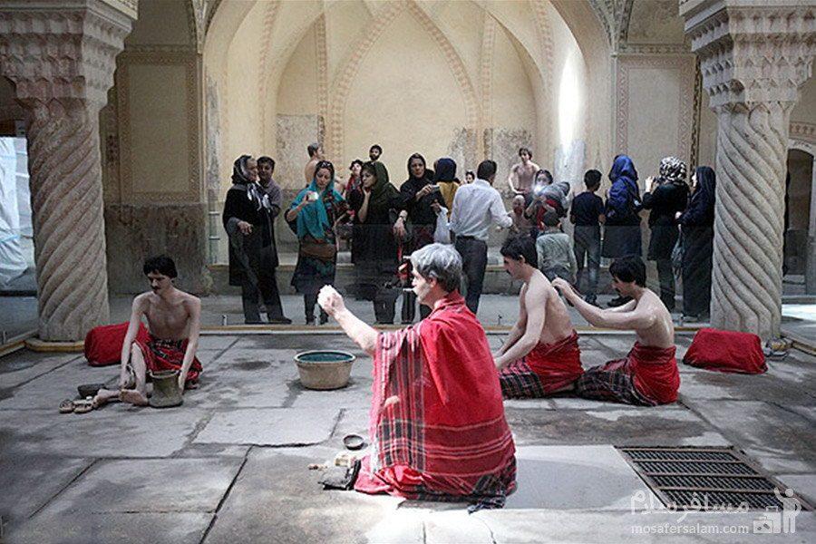 حجامت در حمام وکیل شیراز