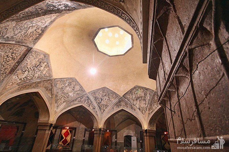 روزنه سقف حمام وکیل شیراز جهت تهویه هوا