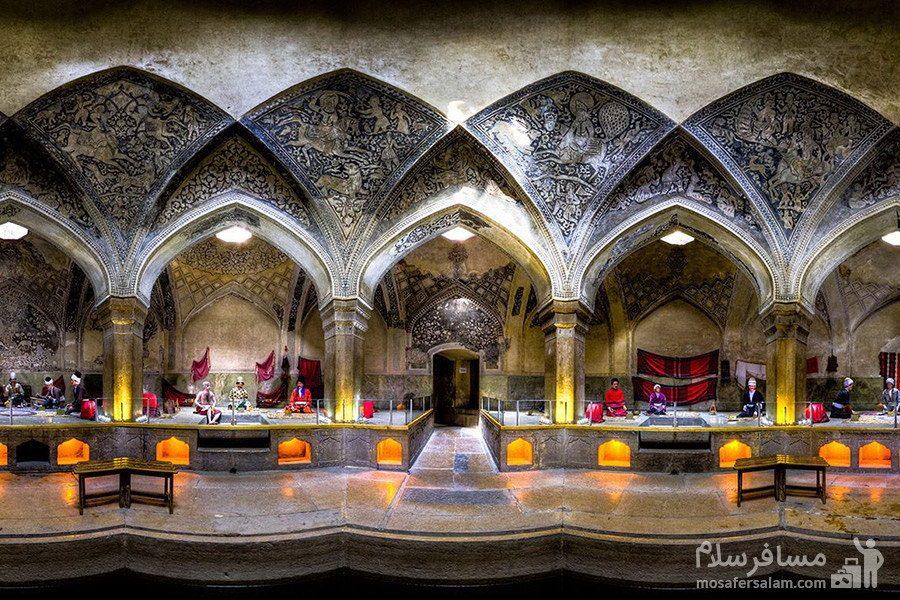حمام وکیل شیراز  در مجموعه زندیه