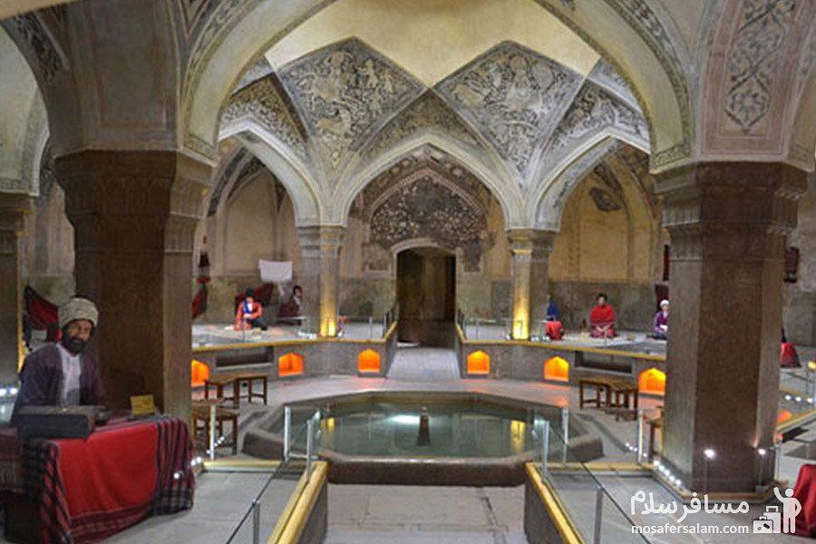 معماری شگفت انگیز حمام وکیل شیراز