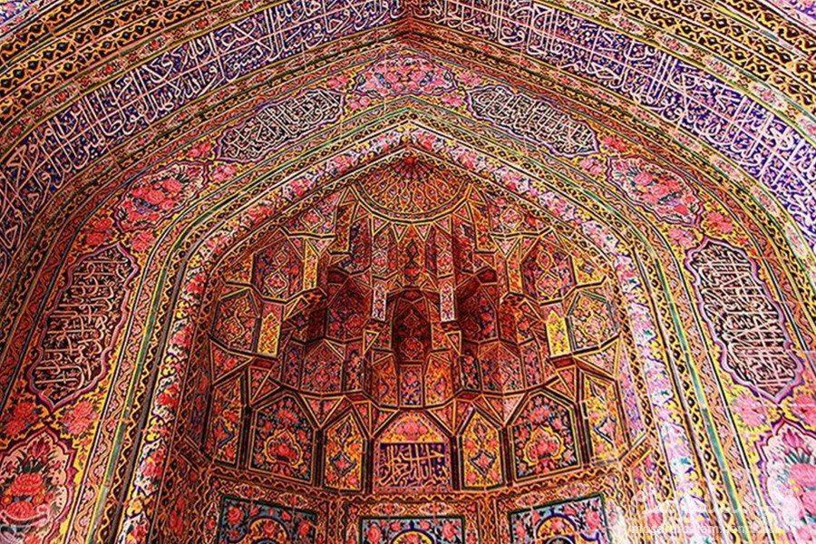 طاق کاشی هفت رنگ مسجد نصیرالملک
