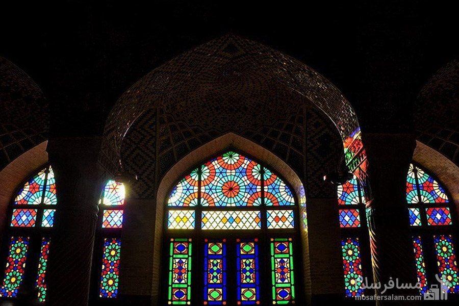 معماری اسلامی ایرانی مسجد نصیرالملک شیراز