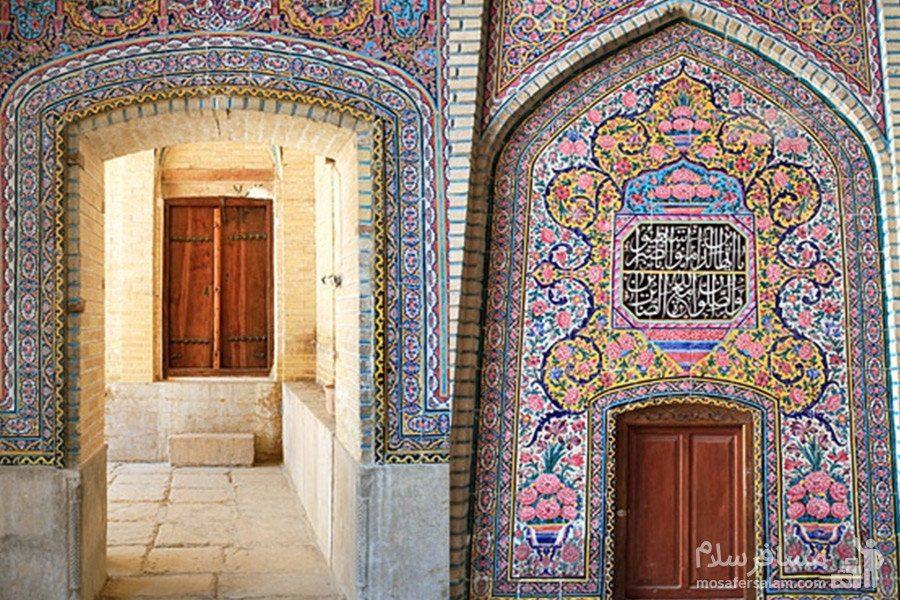 ورودی مسجد نصیرالملک شیراز