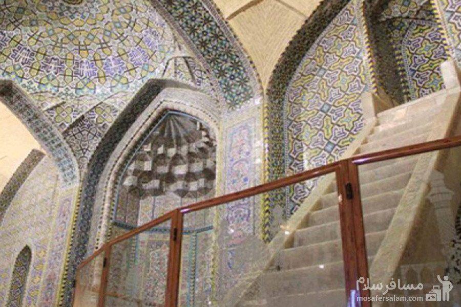 پله های سنگ مرمر مسجد وکیل شیراز