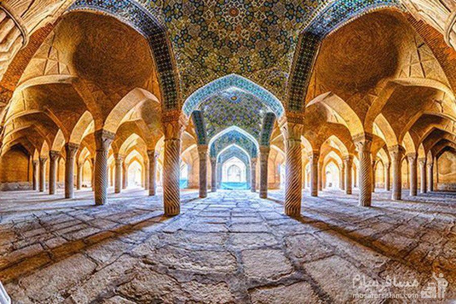 شبستان مسجد وکیل شیراز، هنری از دوران کریم خان زند