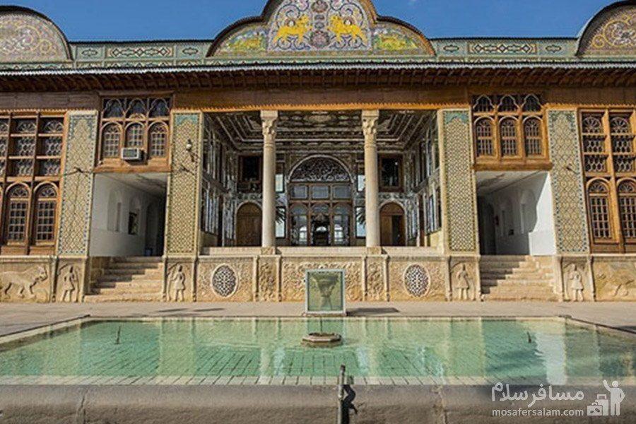 حوض آب در ورودی اصلی نارنجستان قوام