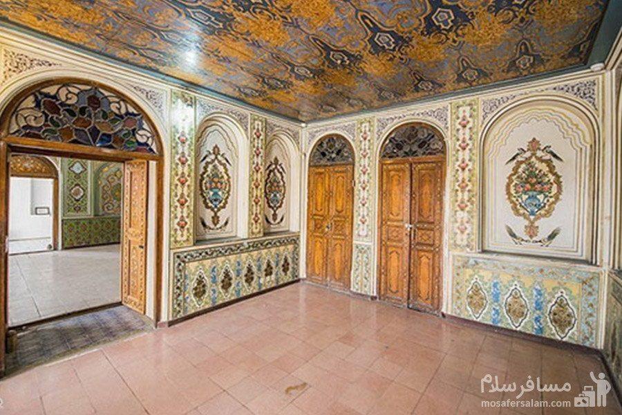 سالن اصلی عمارت نارنجستان قوام در شیراز