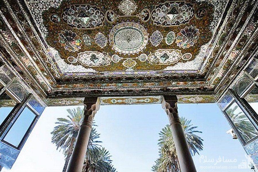 سقف ایوان اصلی نارنجستان قوام در شیراز