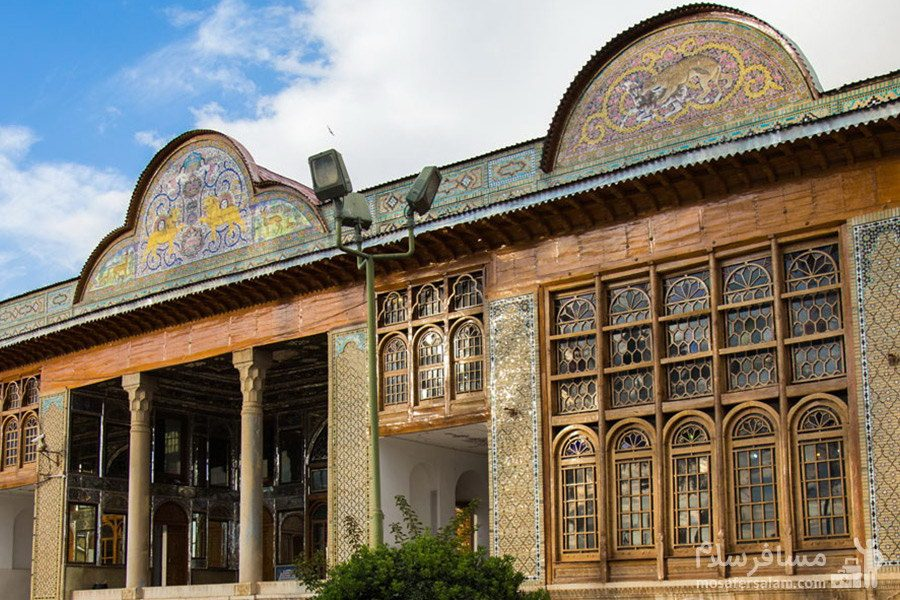 نمای بیرونی عمارت اصلی نارنجستان قوام در شیراز
