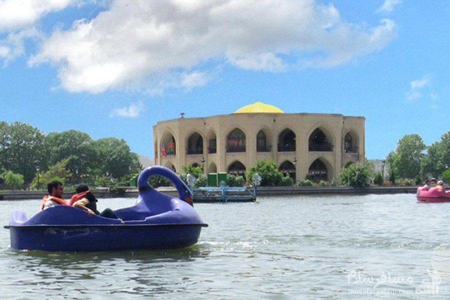 قایقرانی در دریاچه ائل گلی