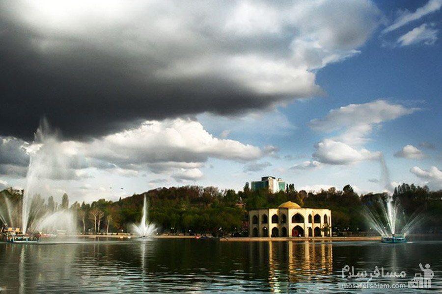 آسمان دریاچه ائل گلی تبریز