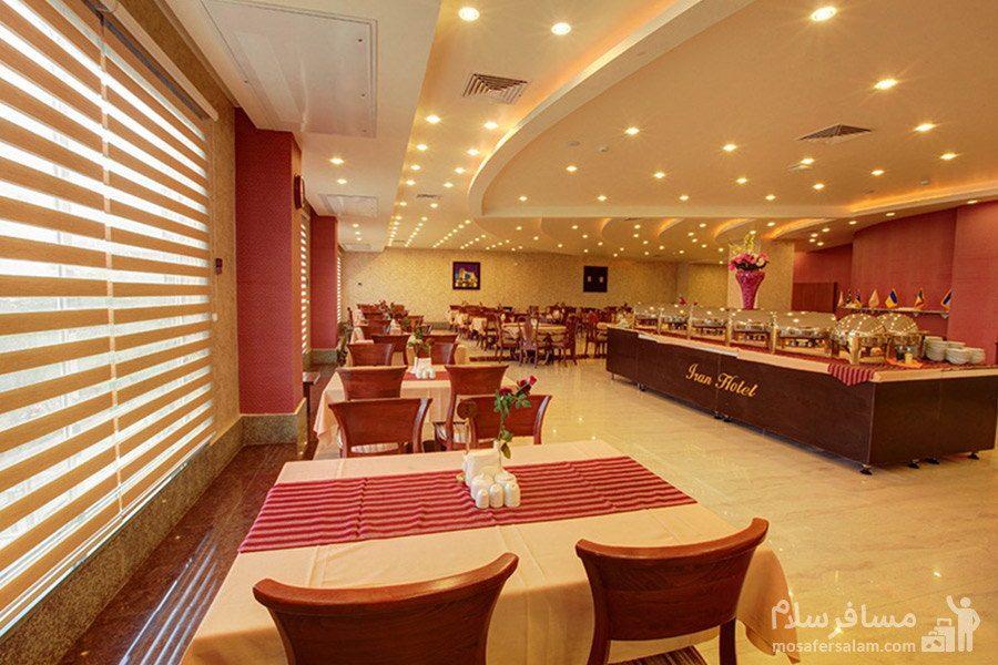 هتل ایران کیش سالن صبحانه خوری