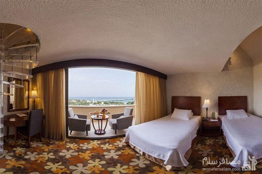هتل شایان کیش اتاق دوتخته توئین رو به دریا