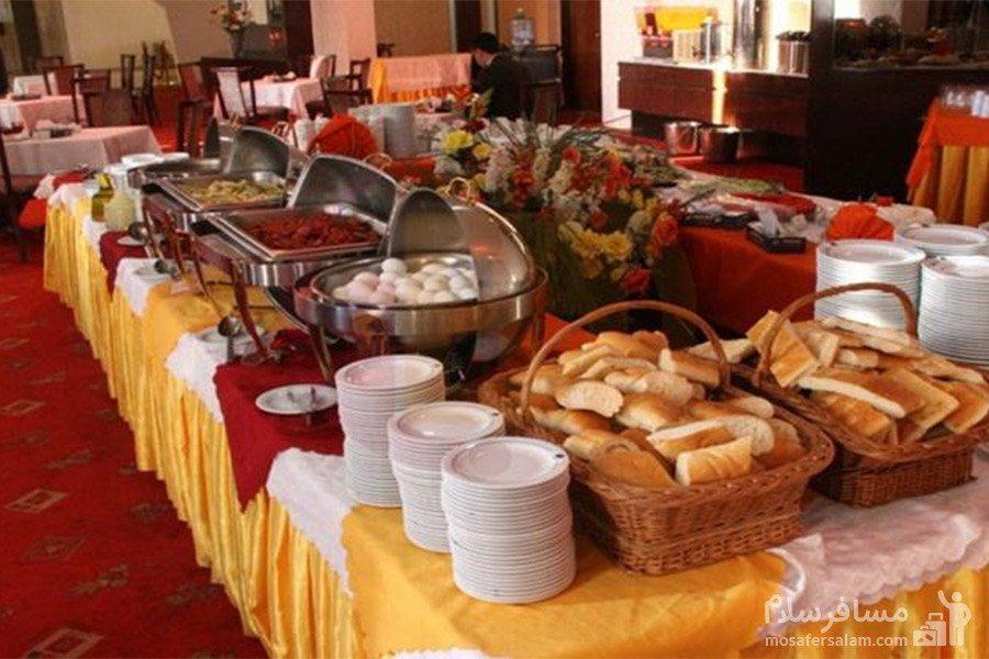 هتل شایان کیش بوفه صبحانه