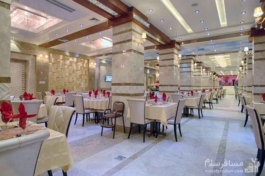 سالن صبحانه هتل الماس مشهد