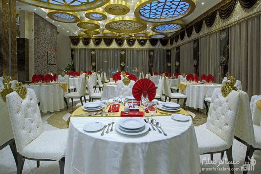 سالن پذیرایی هتل الماس مشهد