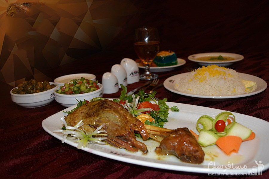 غذا ایرانی هتل الماس مشهد