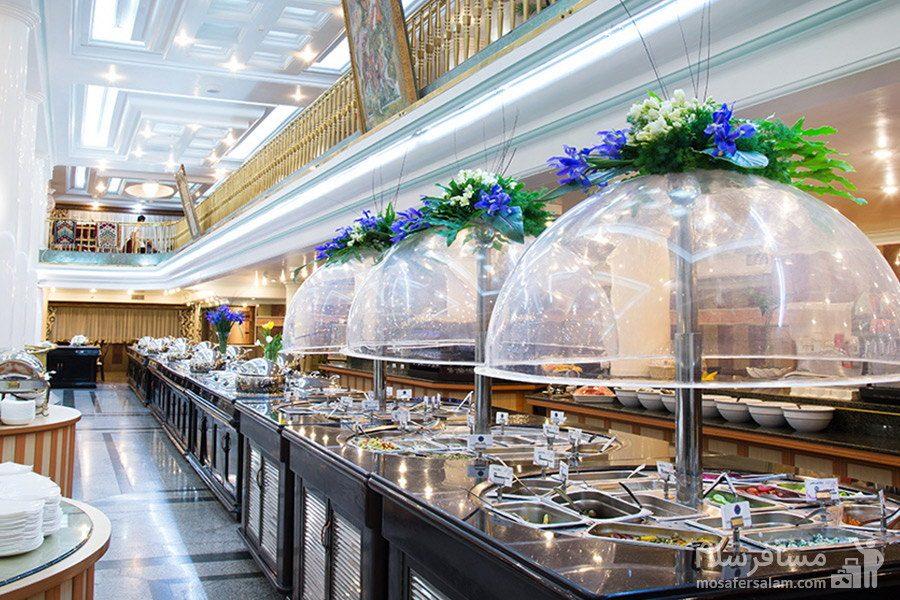 بوفه صبحانه هتل بین المللی قصر مشهد