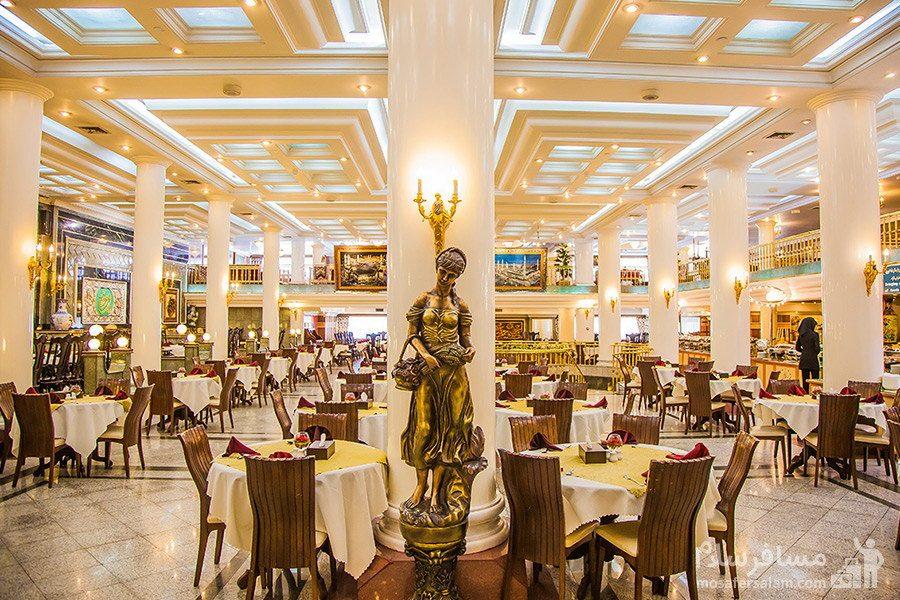 سالن پذیرایی هتل بین المللی قصر مشهد