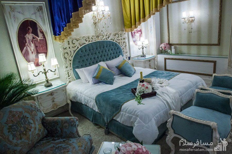 سوئیت رویال دونفره هتل بین المللی قصر مشهد