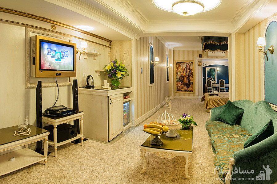 آپارتمان دوخوابه هتل قصر مشهد