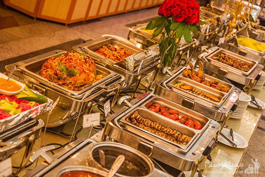 بوفه ناهار هتل قصر مشهد
