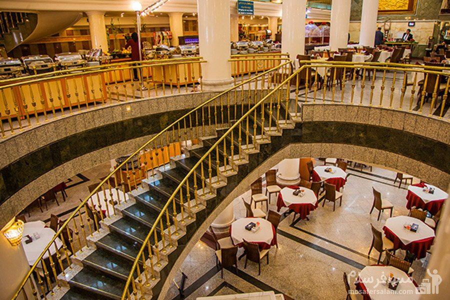 رستوران های هتل بین المللی قصر مشهد