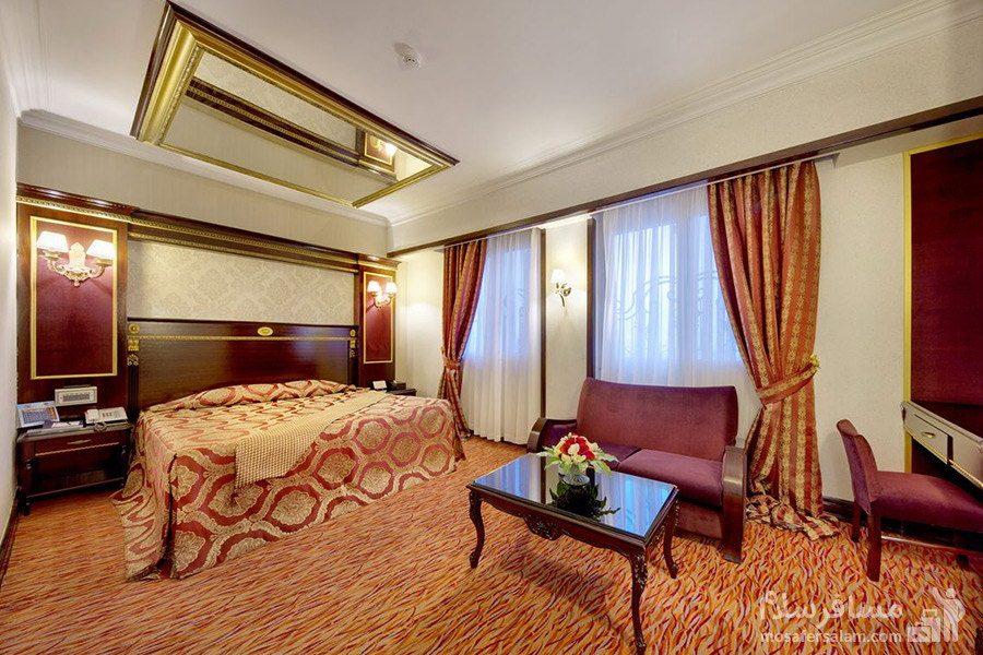 اتاق دوتخته هتل بین المللی قصر مشهد