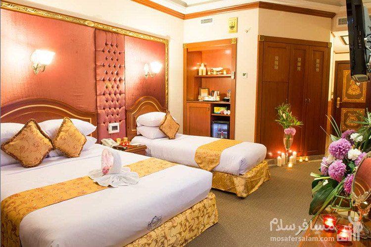 اتاق پانوراما هتل قصر طلایی مشهد