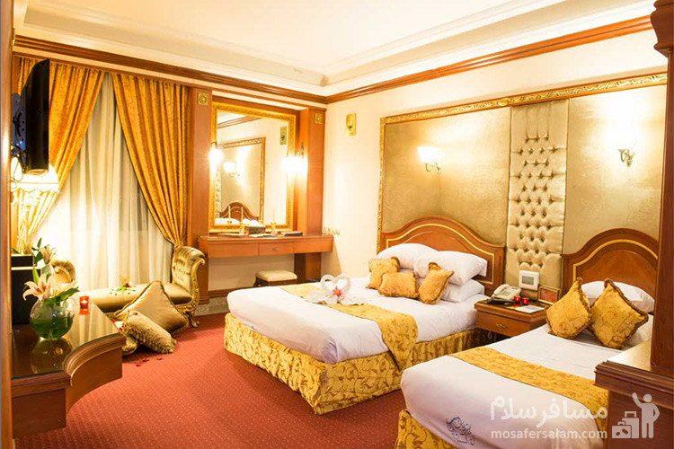 دبل لاکچری کانکت هتل قصر طلایی مشهد