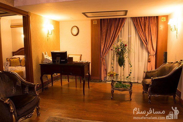 اتاق پرزیدنت هتل قصر طلایی مشهد
