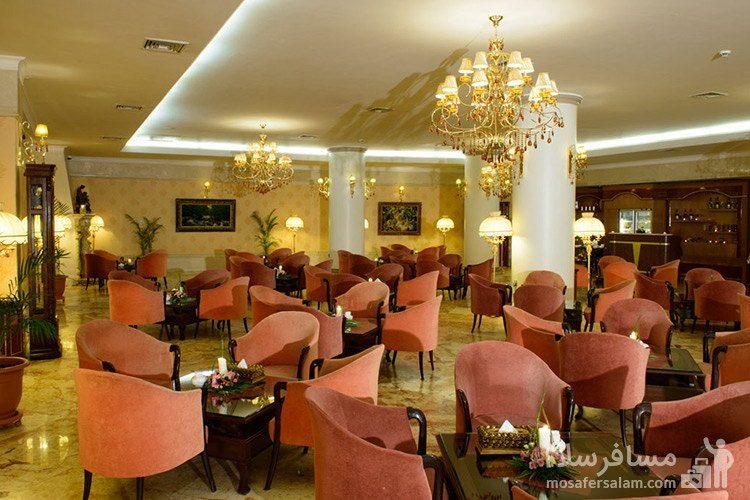کافی شاپ لابی هتل قصر طلایی مشهد